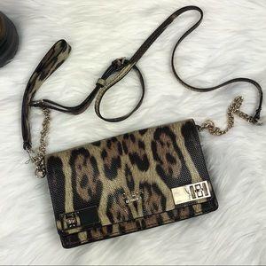 GUESS Milo Mini Leopard Crossbody Handbag